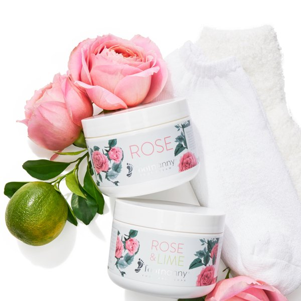 Rose foot treatment gift set