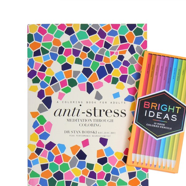 Anti-Stress: Coloring Book & Colored Pencils