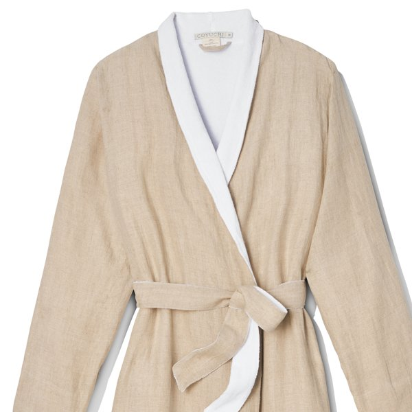 Coyuchi Linen Terry Robe