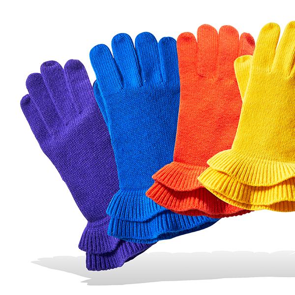 Talbots Lurex Stripe Glove and Gallery Ruffle Glove