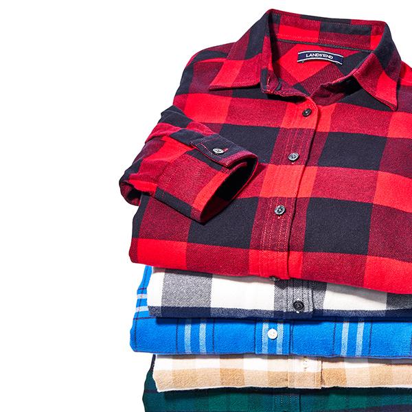 Lands End Women's Flannel Shirts