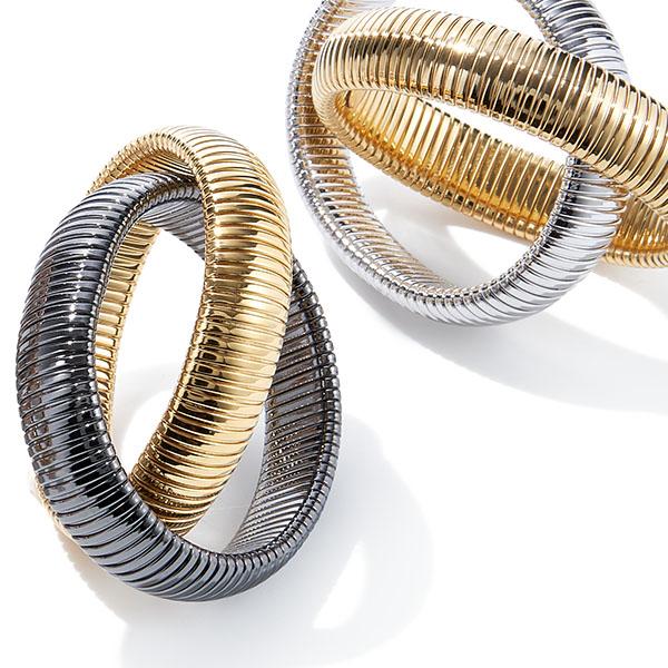 Janis Savitt Double Cobra Bracelets