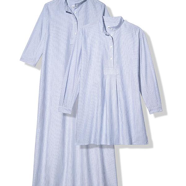 Blue Oxford Stripe Sleep Shirt