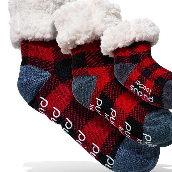 Pudus Lumberjack Slipper Socks