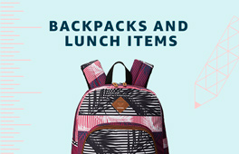 Backpacks and lunch items