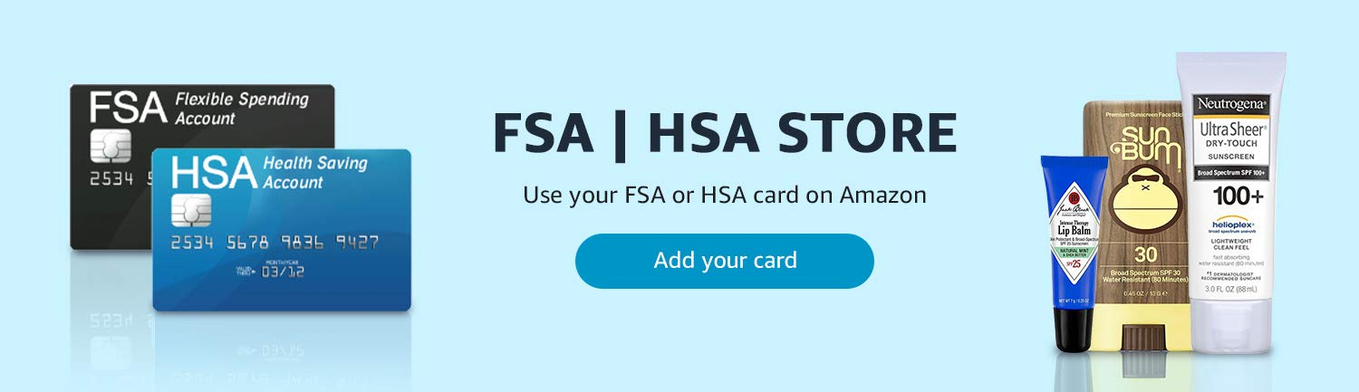Use your FSA or HSA cards on Amazon