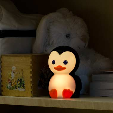 Danny the Penguin Portable Night-Light with Rainbow Color Change - 5 Colors