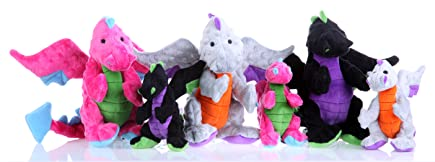 group shot of Dragons plush toys