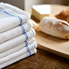 Amazon Com Keeble Outlets Kitchen Dish Towels White With Royal