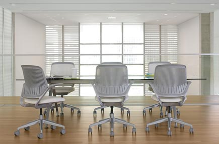 steelcase cobi chairs in a conference room