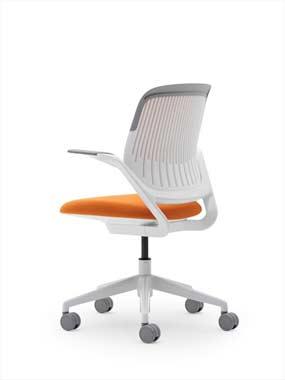Image of single orange cobi office chair