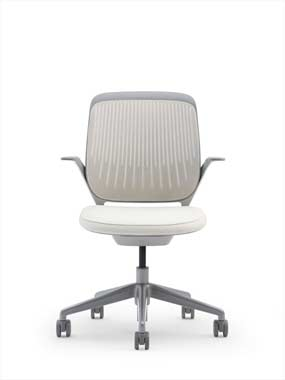 single white cobi chair Steelcase