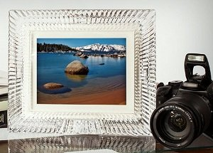 8 inch waterford crystal digital photo frame