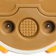 Simple one-button control makes it easy for your toddler to cycle through night-light colors.