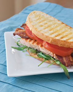 Grilled Salmon BLT Panini