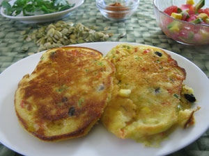 Fully Loaded Buttermilk Corn Cakes