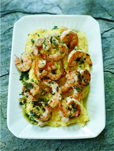 White Beans/Shrimp with Brown Butter and Herbs