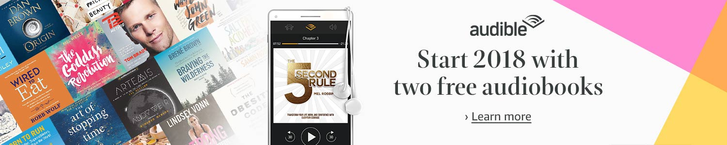 Start 2018 with 2 free audiobook