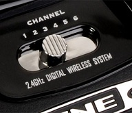 Features a switch for changing wireless channels