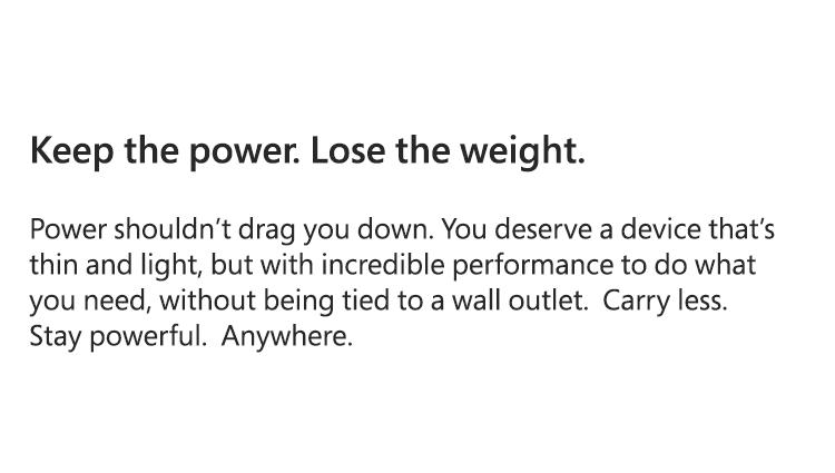 Keep the power.