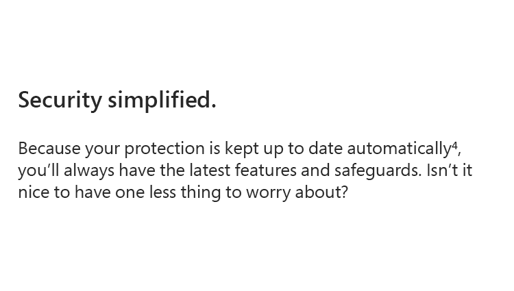 Security simplified