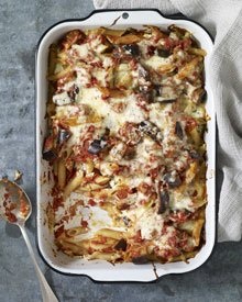 Cheesy Baked Penne with Eggplant