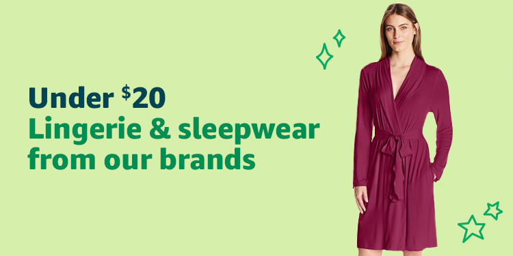 Under $20: Lingerie and sleepwear from our brands