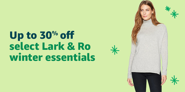 Up to 30% off select Lark & Ro winter essentials