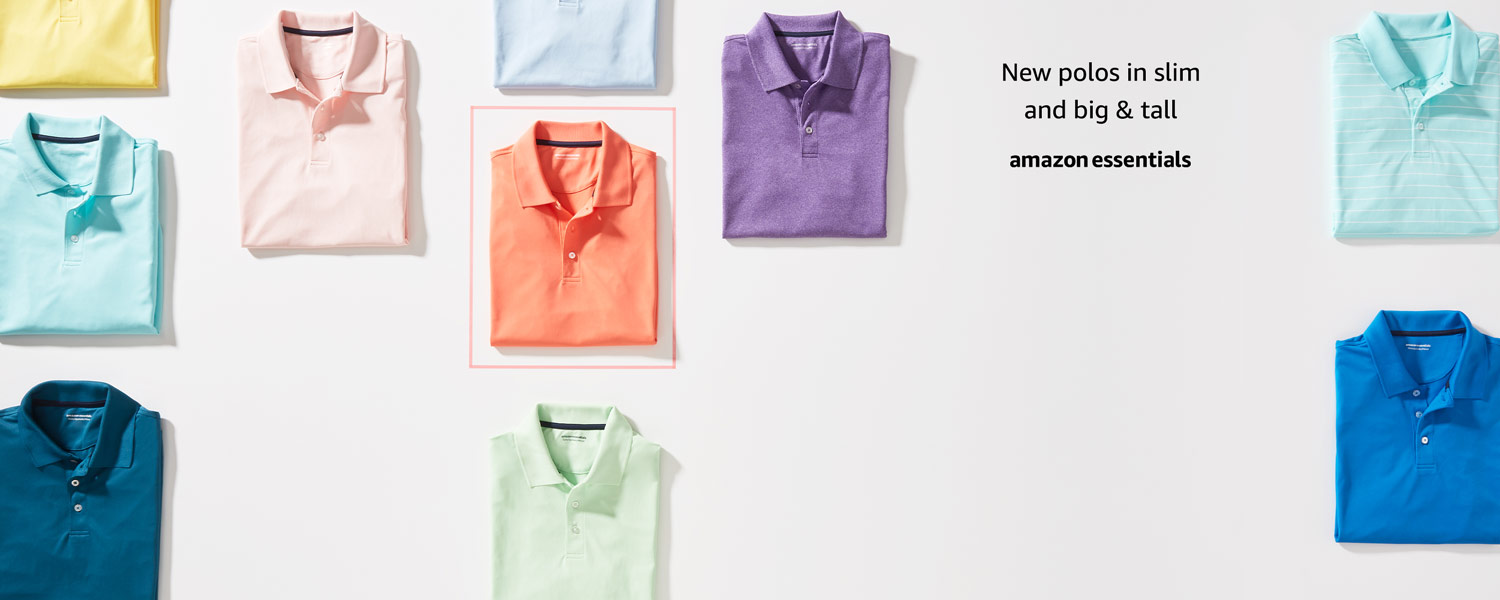 New polos in slim and big and tall
