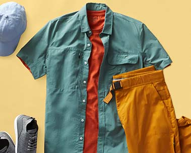 Men's outdoor style for less