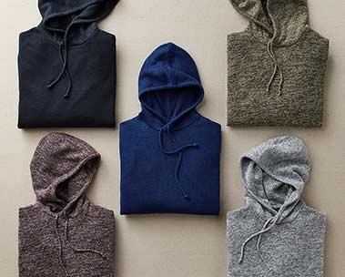 Back in stock: men's hoodies