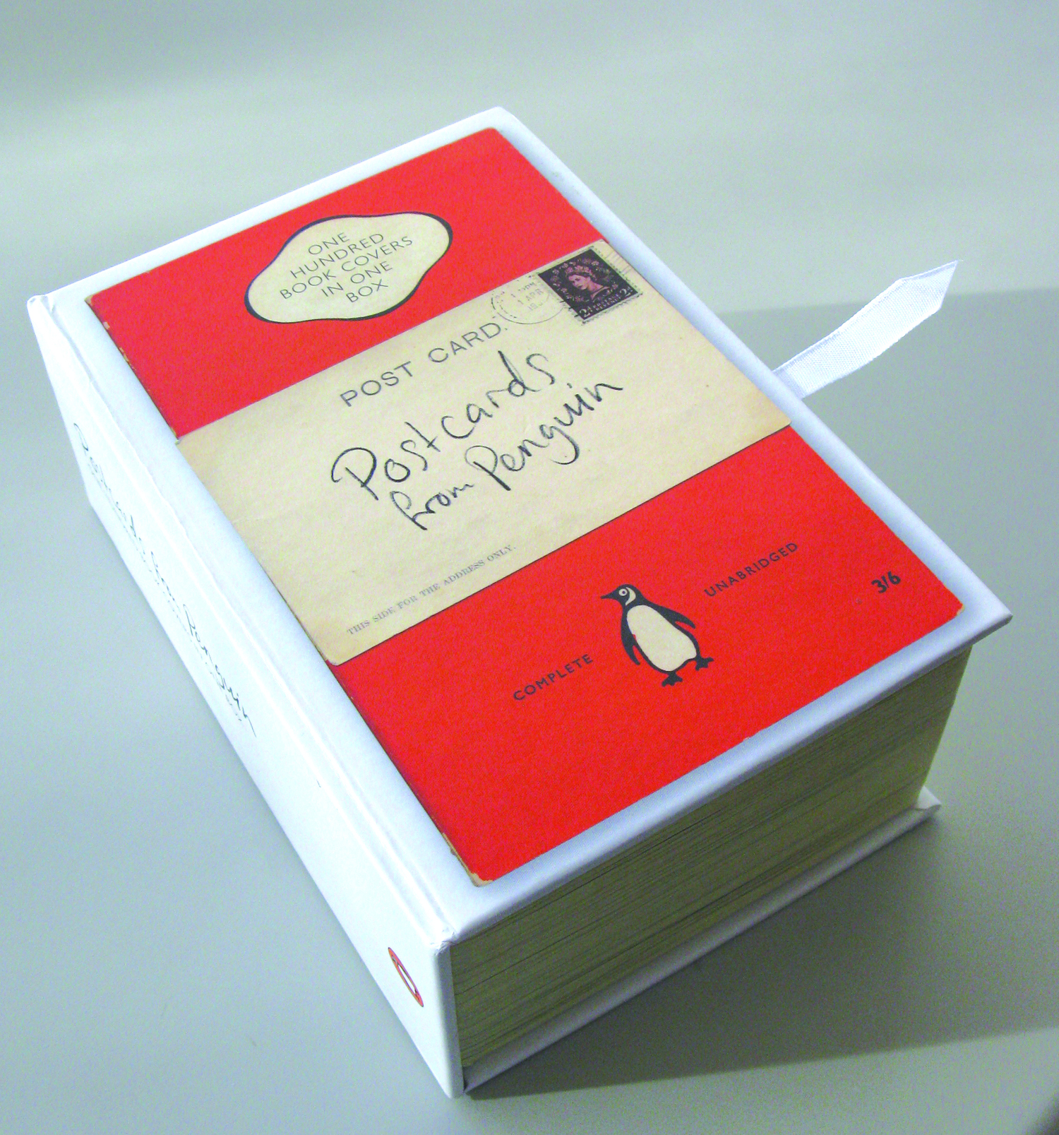 Original Penguin Book Covers : Postcards from penguin one hundred book covers in box