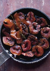 Roasted Figs with Pomegranate Molasses