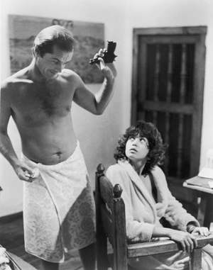 Jack and Maria Schneider in Michelangelo Antonioni's 1975 release, The Passenger, a Hitchcock-flavored man in search of his own identity.