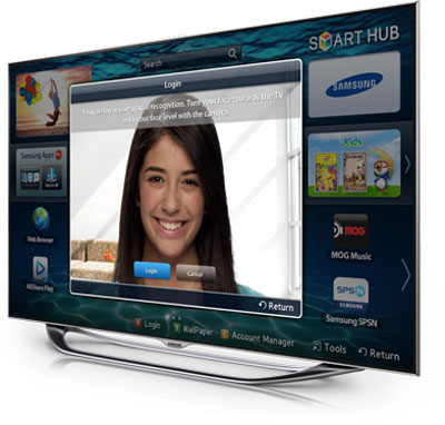 Samsung un60es8000 60 inch 1080p 240hz 3d slim for Camera tv web