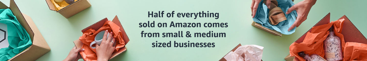 Half of everything sold on Amazon comes from small & medium businesses