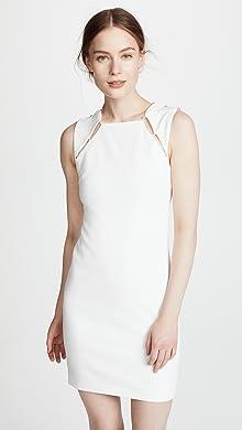 Sandra Lee White Satin Dress