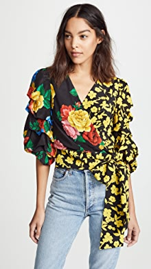 052e1bc120e33 alice + olivia. Dominica Reversible Blouse