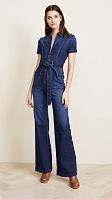 a3084182b8d2 Stoned Immaculate Blue Jean Baby Jumpsuit