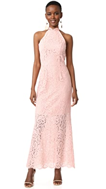 Alice and olivia clover lace dress pink