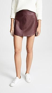 4451751266 BB Dakota Brucie Leather Miniskirt | SHOPBOP