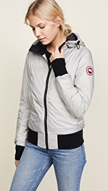 Canada Goose. Dore Hooded Jacket · $495.00. Permafrost Black