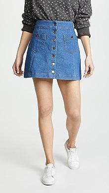3bb1345d5c Levi s Button Front Miniskirt