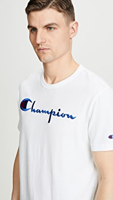 ccb7c633 SOLD OUT · Champion Premium Reverse Weave. Large Logo T-Shirt. $55.00  $55.00 $55.00 · + more. like it