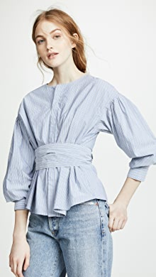 33b014556ae80 Citizens of Humanity Fran Puff Sleeve Blouse