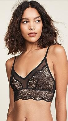 Calvin Klein Underwear CK Black Lily Lace Unlined Balconette Bra ... 367d6d4e9