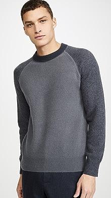 클럽 모나코 Club Monaco Garment Dyed Crew Neck Sweater,Sharkskin
