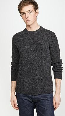 클럽 모나코 Club Monaco Soft Wool Crew Sweater,Charcoal