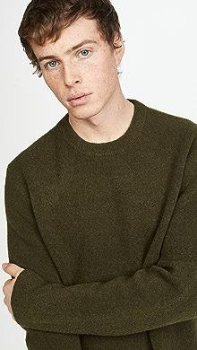 클럽 모나코 Club Monaco Soft Wool Crew Sweater,Moss