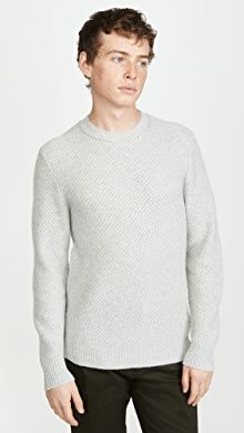 클럽 모나코 Club Monaco Cashmere Stitch Crew Sweater,Light Grey